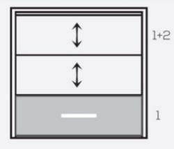 1+2 terasos stiklinimo schema