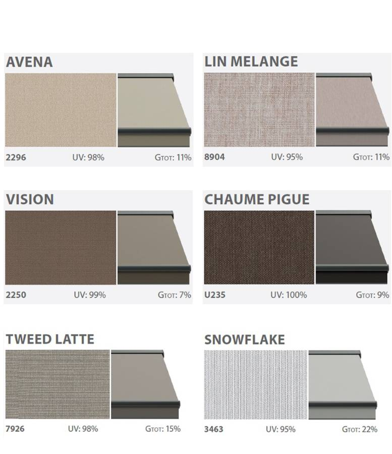 Awning textiles solid
