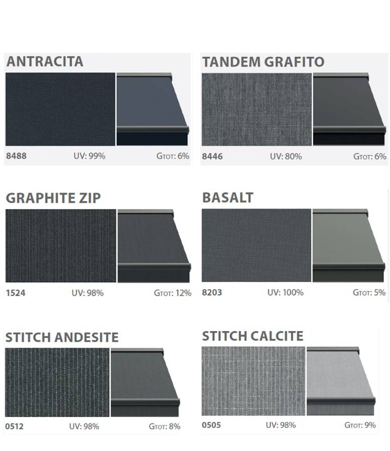 Balcony awnings textile solid
