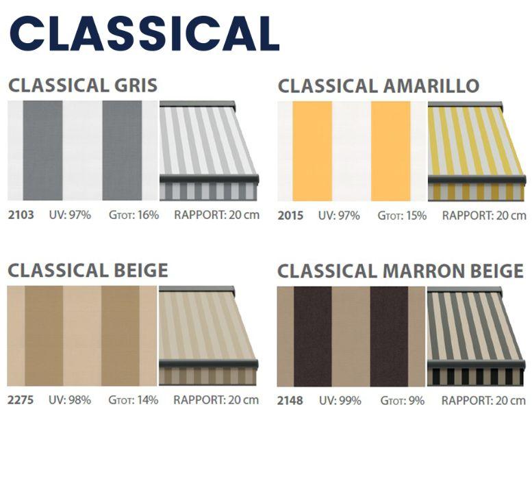 Classical awning textiles