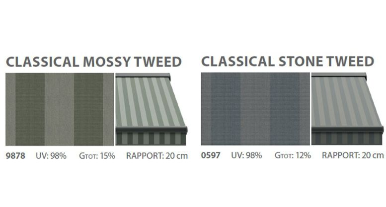 Classical awnings textiles