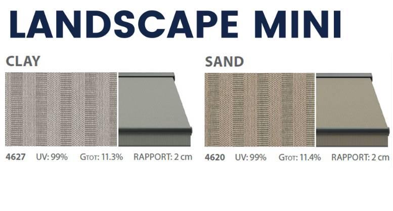 Landscape mini awning textiles