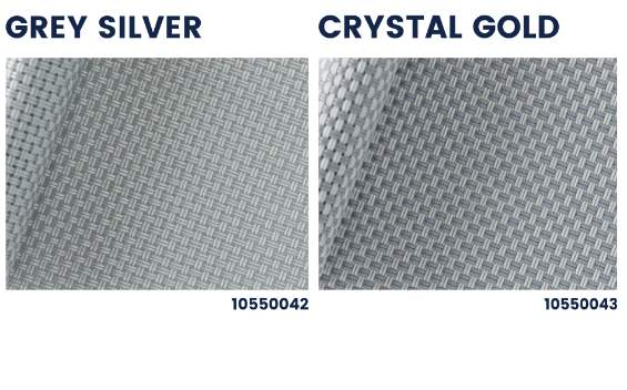 Polyscreen 550 gold silver outdoor roller blinds collection