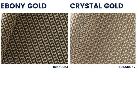 Polyscreen gold silver outdoor roller blinds textile