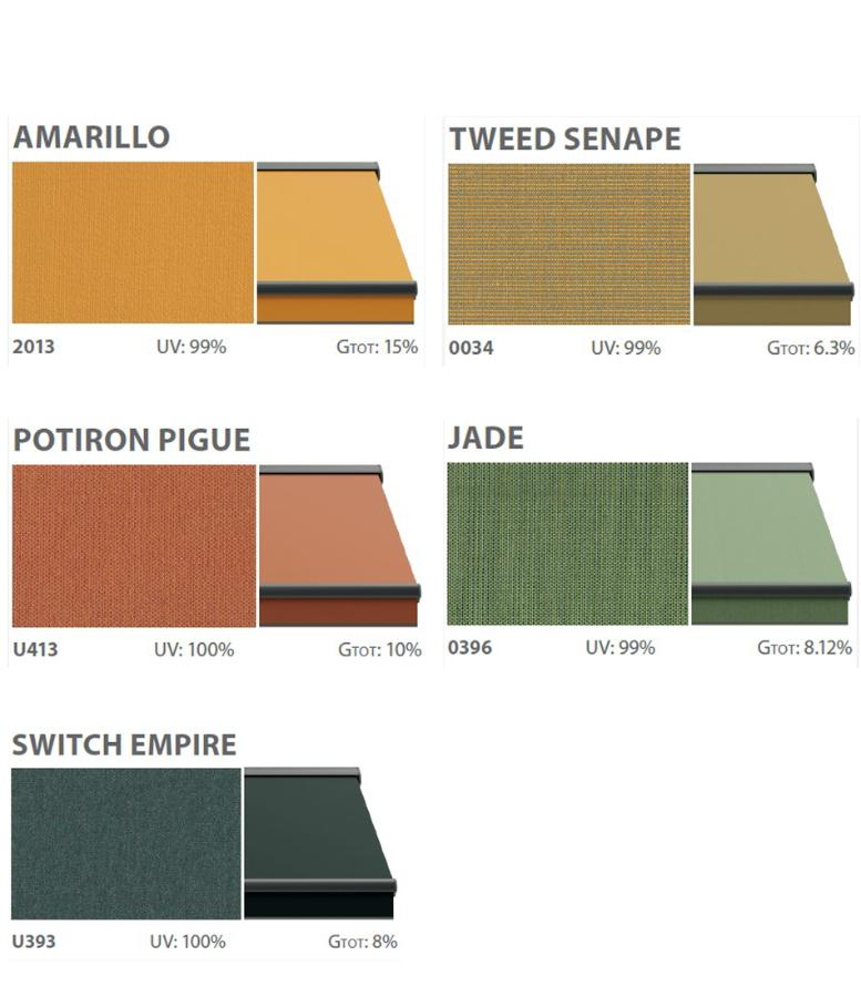 Terrace awnings textiles solid