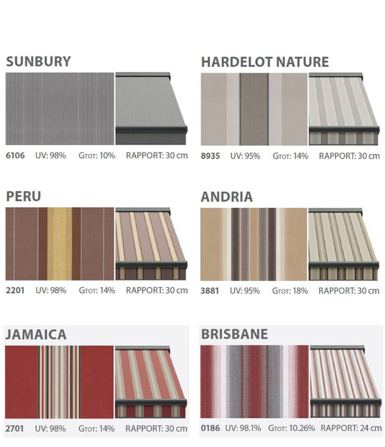 Textiles of awnings fantasy