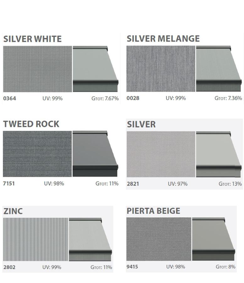 Textiles of awnings solid