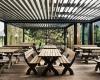 Moderni pavėsinė kavinėms restoranams